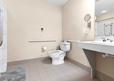 Terrace apartment bathroom
