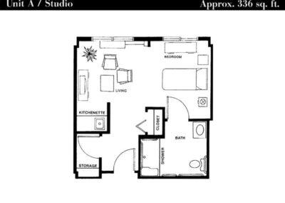 Terrace floor plan unit A