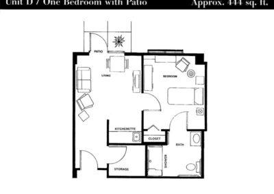 Terrace floor plan unit D