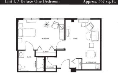 Terrace floor plan unit E