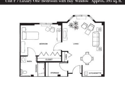 Terrace floor plan unit F