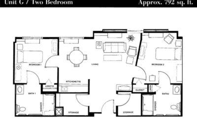Terrace floor plan unit G